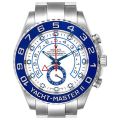 Rolex Yachtmaster II 44 Blue Cerachrom Bezel Men's Watch 116680 Box Card