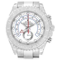 Rolex Yachtmaster II Regatta White Gold Platinum Watch 116689 Unworn