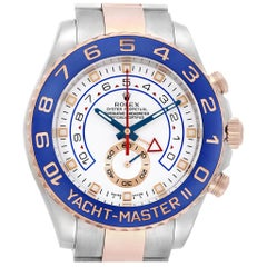 Rolex Yachtmaster II Rolesor EveRose Gold Steel Men's Watch 116681