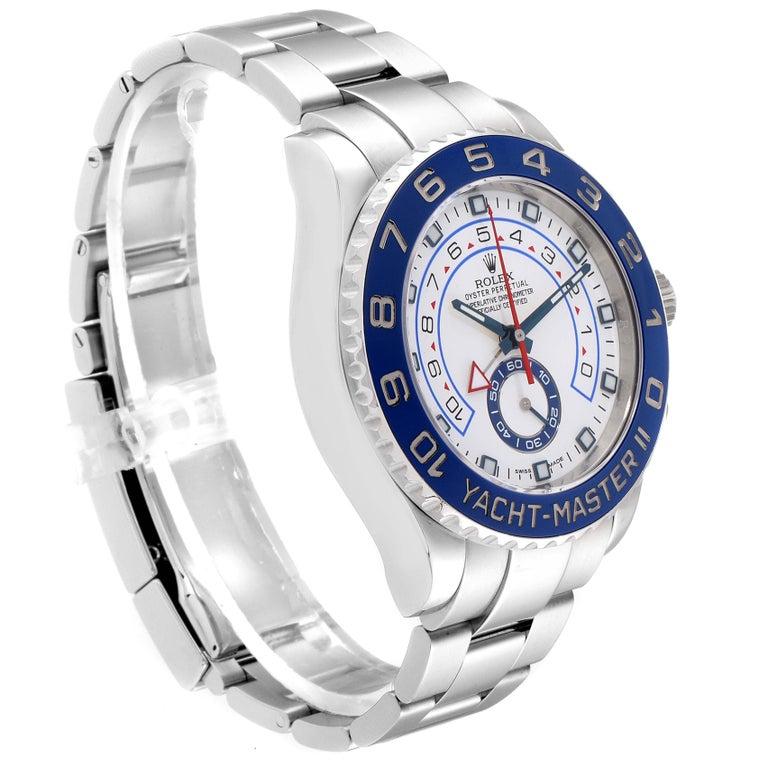 Rolex Yachtmaster II Stainless Steel Blue Bezel Men's Watch 116680 For Sale 1