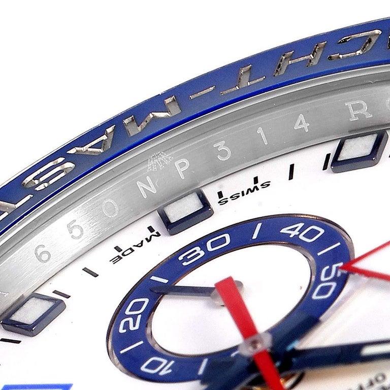 Rolex Yachtmaster II Stainless Steel Blue Bezel Men's Watch 116680 For Sale 3