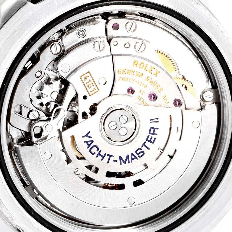 Rolex Yachtmaster II Stainless Steel Blue Bezel Men's Watch 116680 For Sale 5