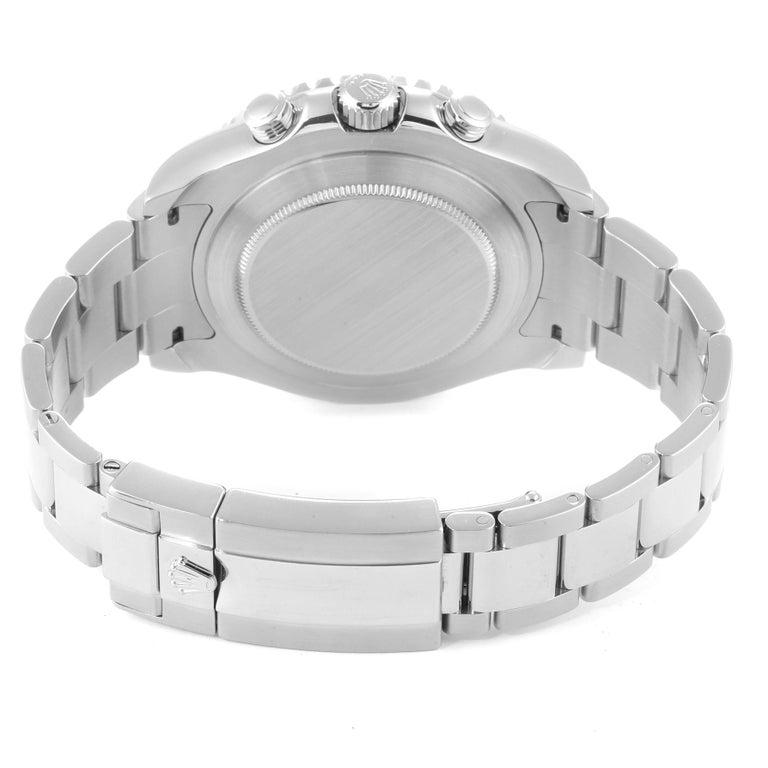 Rolex Yachtmaster II Stainless Steel Blue Bezel Men's Watch 116680 For Sale 6
