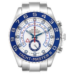 Rolex Yachtmaster II Stainless Steel Blue Bezel Men's Watch 116680