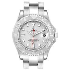 Rolex Yachtmaster Midsize Steel Platinum Men's Watch 168622 Box