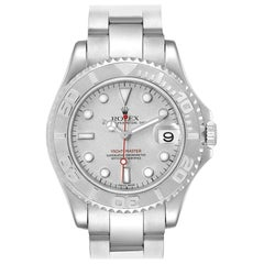 Rolex Yachtmaster Midsize Steel Platinum Men's Watch 168622 Box Papers