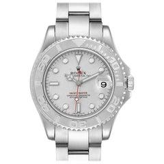 Rolex Yachtmaster Midsize Steel Platinum Men's Watch 168622