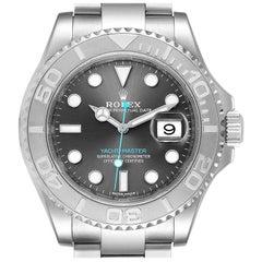 Rolex Yachtmaster Rhodium Dial Steel Platinum Men's Watch 116622