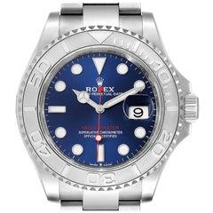 Rolex Yachtmaster Stainless Steel Platinum Blue Dial Watch 126622 Unworn