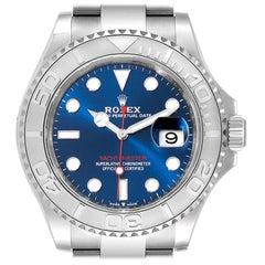 Rolex Yachtmaster Steel Platinum Blue Dial Men's Watch 126622 Unworn