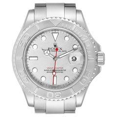 Rolex Yachtmaster Steel Platinum Dial Bezel Men's Watch 16622