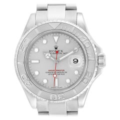 Rolex Yachtmaster Steel Platinum Mens Watch 16622 Box Papers