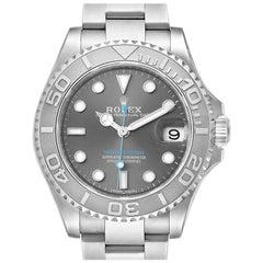 Rolex Yachtmaster Steel Platinum Mens Watch 268622 Box Card