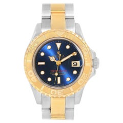 Rolex Yachtmaster Steel Yellow Gold Blue Dial Ladies Watch 69623