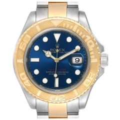Rolex Yachtmaster Steel Yellow Gold Blue Dial Men's Watch 16623