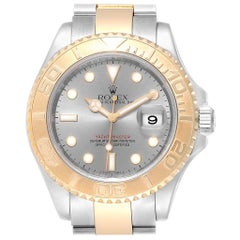 Rolex Yachtmaster Steel Yellow Gold Slate Dial Men's Watch 16623