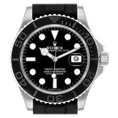 Rolex Yachtmaster White Gold Rubber Strap Watch 226659 Unworn