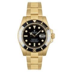 Rolex Yellow Gold Black Dial Submariner 16618LN