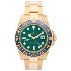Rolex Yellow Gold Ceramic Bezel GMT-Master II Automatic Wristwatch Ref 116718