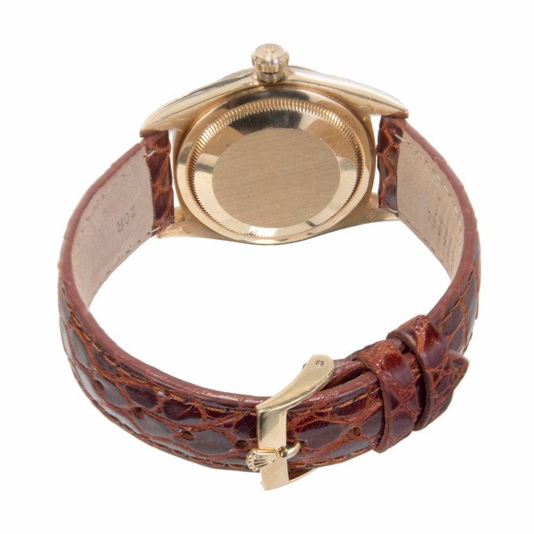 Rolex Yellow Gold Datejust Blue Dial Wristwatch Ref 16238 4