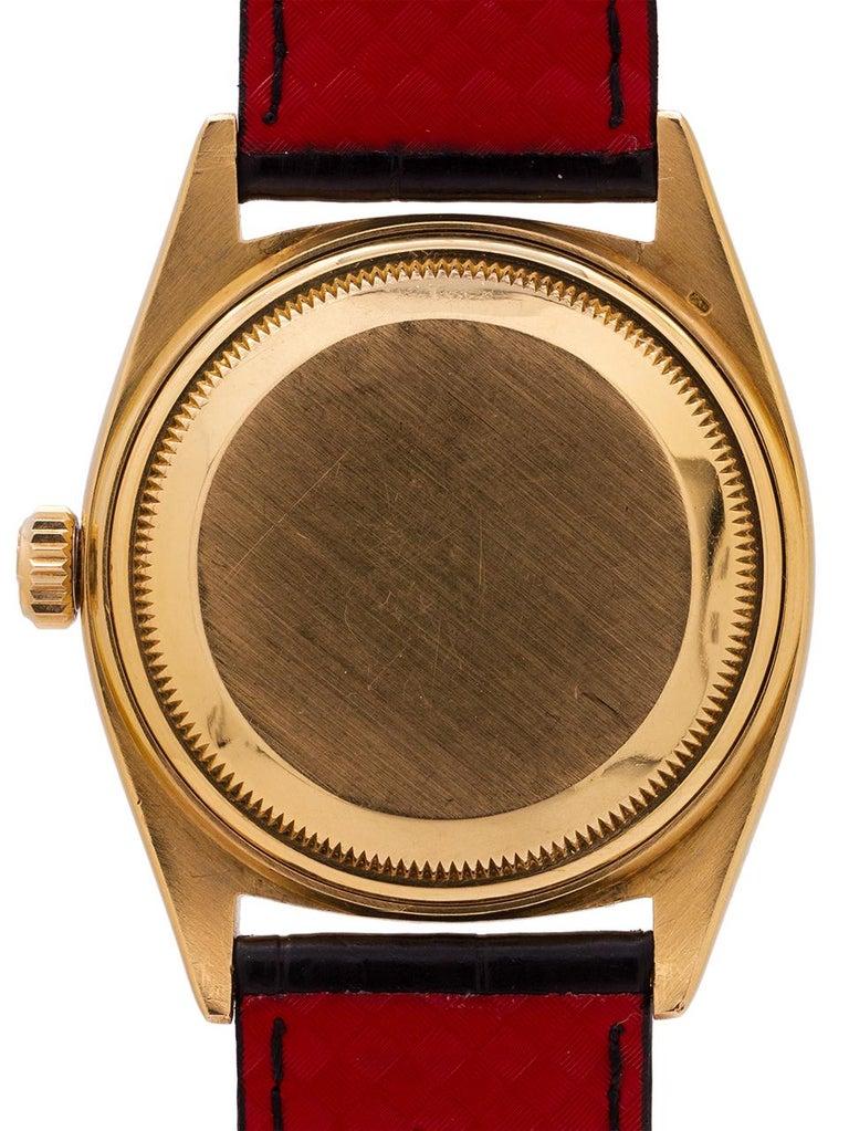 Men's Rolex Yellow Gold Day Date self winding wristwatch Ref 6611B, circa 1959