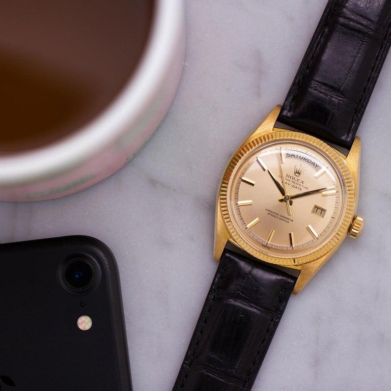 Rolex Yellow Gold Day Date self winding wristwatch Ref 6611B, circa 1959 1