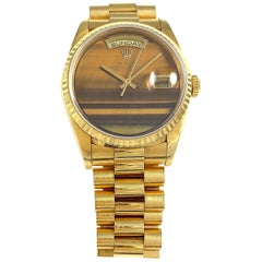 Rolex Yellow Gold Day-Date Tiger's Eye Dial President Wristwatch