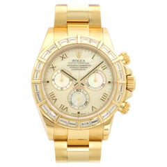 Rolex Yellow Gold Daytona Baguette Diamond Watch Ref. 116568BR