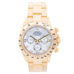 Rolex yellow gold Daytona Cosmograph Automatic Wristwatch Ref 116528