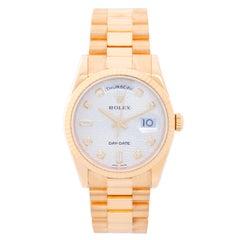 Rolex Yellow Gold Diamond President Day-Date Automatic Wristwatch Ref 118238