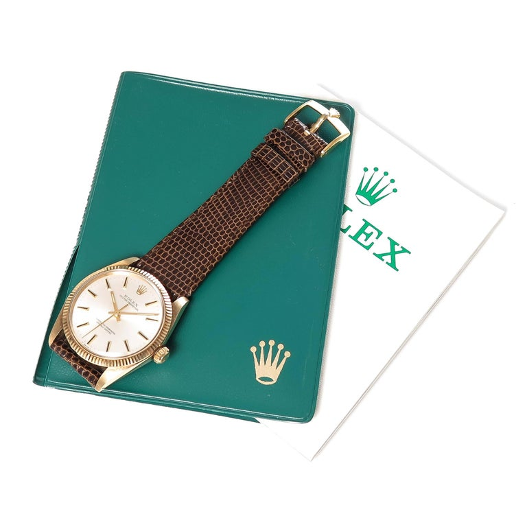Rolex Yellow Gold Oyster Perpetual Presentation Automatic Wristwatch For Sale 3