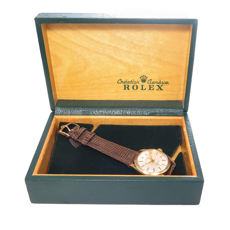 Rolex Yellow Gold Oyster Perpetual Presentation Automatic Wristwatch For Sale 4