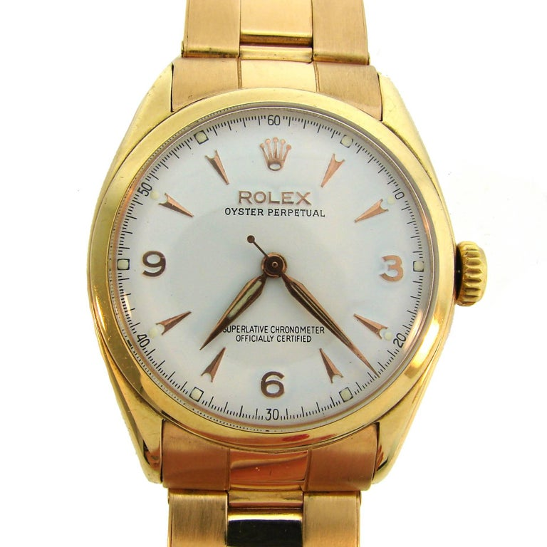 Rolex Yellow Gold Oyster Perpetual Automatic Wristwatch