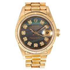 Rolex Yellow Gold President Mother of Pearl Diamond Ladies Wristwatch