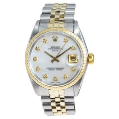 Rolex Yellow Gold Stainless Steel Date Perpetual Wind Watch, 1968