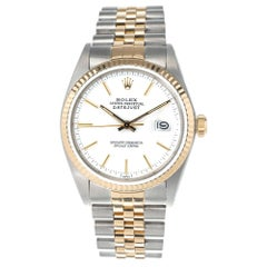 Rolex Yellow Gold Stainless Steel Datejust Men's Wristwatch