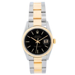 Rolex yellow Gold Stainless Steel Datejust Oyster Bracelet Automatic Watch 16203