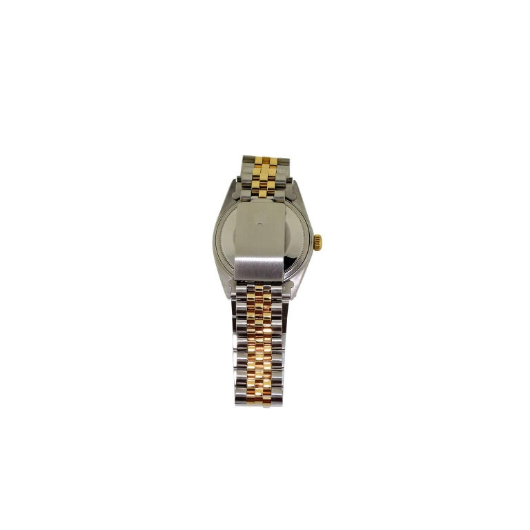 Women's or Men's Rolex Yellow Gold Stainless Steel Datejust Oyster Perpetual Watch Dated 1970 For Sale