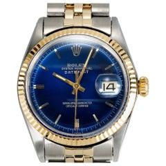 Rolex Yellow Gold Stainless Steel Datejust Wristwatch