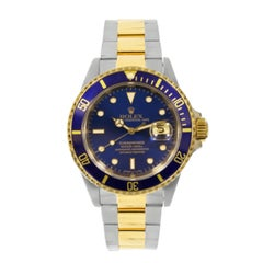 Rolex yellow gold stainless steel Submariner self-winding Wristwatch