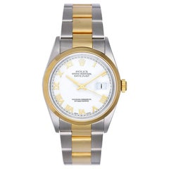 Rolex Yellow Gold Stainless Steel Two-Tone Datejust Oyster Automatic Wristwatch