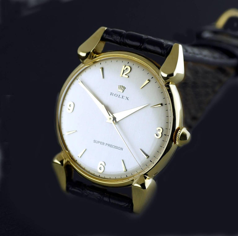 Rolex Yellow Gold Super Precision Chronometer Wristwatch, circa 1949 For Sale 1