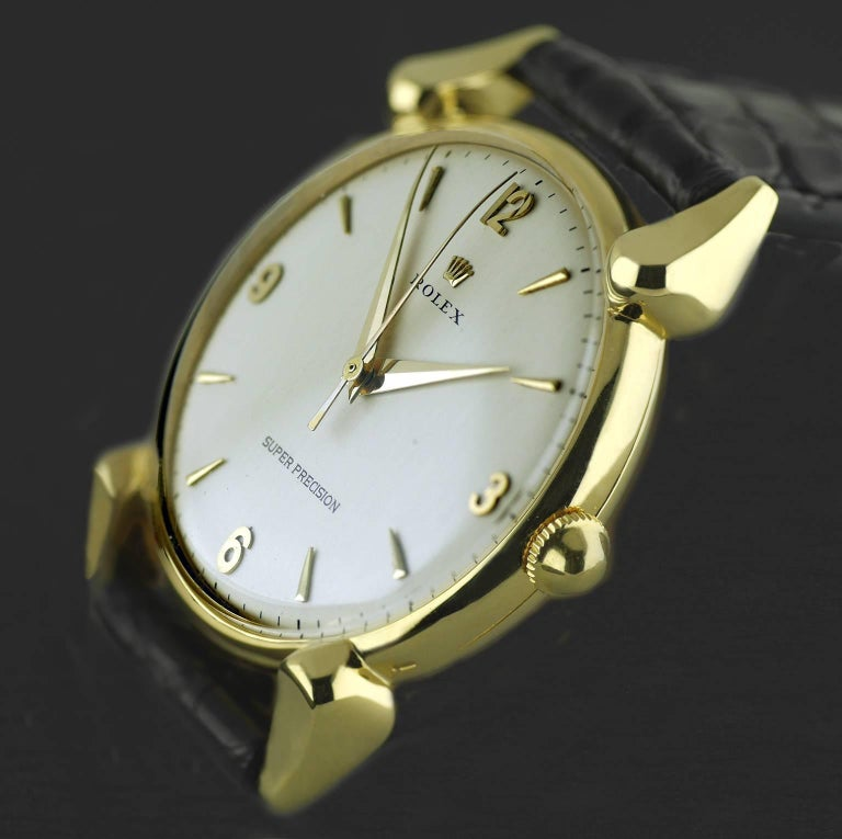 Rolex Yellow Gold Super Precision Chronometer Wristwatch, circa 1949 For Sale 2