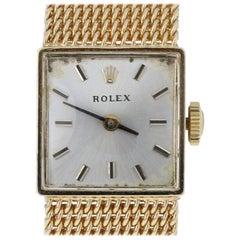 Rolex Yellow Gold Watch, 14 Karat Ladies Mechanical 1400 2 Year Warranty, 1950s