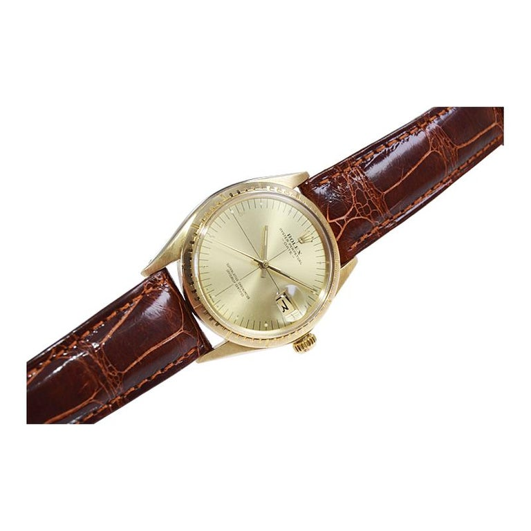 Rolex Yellow Gold Zephyr Automatic Watch, circa 1984 For Sale 4