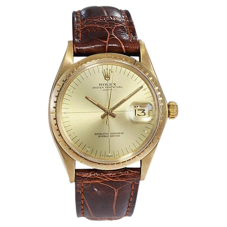 Rolex Yellow Gold Zephyr Automatic Watch, circa 1984 For Sale