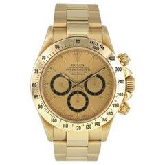 Rolex Zenith Daytona 16528 Inverted 6 Yellow Gold Men's Watch