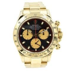 Rolex Yellow Gold Daytona Cosmograph automatic Wristwatch Ref 116528