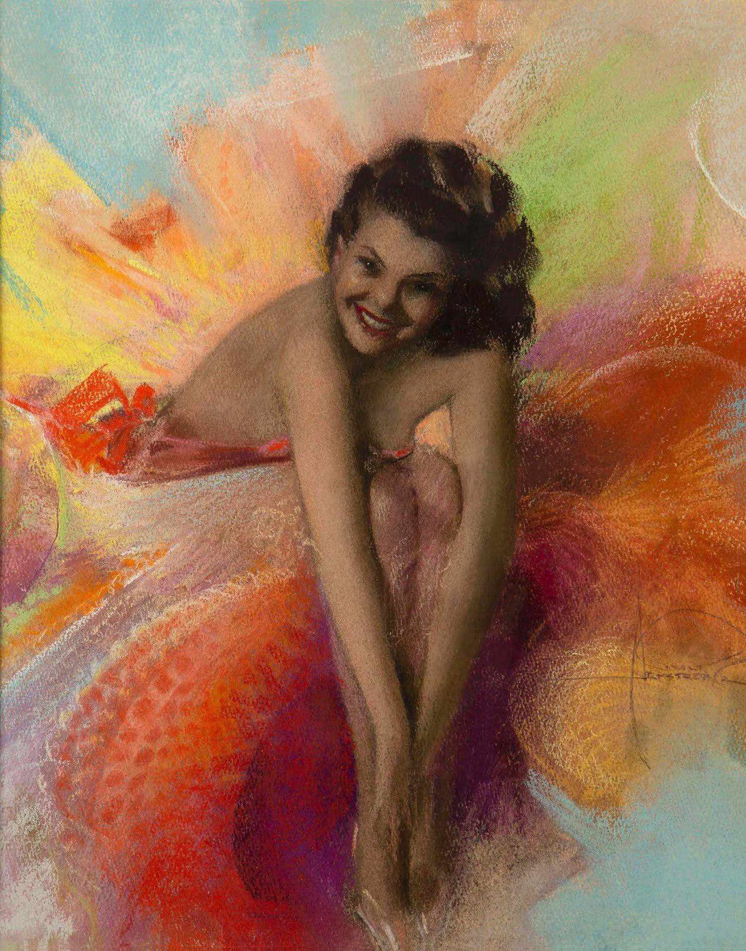 Rolf Armstrong Muse Jewel Flowers