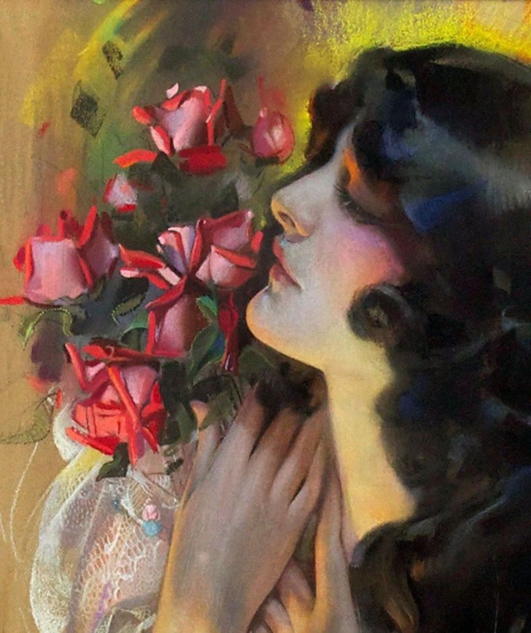 The Dream Girl - Art Deco Painting by Rolf Armstrong